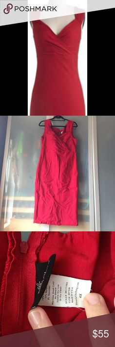 🎉HP🎉Modcloth Lady Love Song Sheath Dress in Ruby 💗HOST PICK 💗This lovely little number is super sexy and sadly now to large on me! Worn about 4 times, in EUC, from a smoke free, pet friendly home! 	The sizing is flexible, it's listed as a 4X and rocksteady brand, which equates to roughly 16/18 US. It will fit a very large bust and pretty big hips as well. Please ask for measurements. Rock Steady Dresses Midi