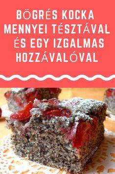 Egy izgalmas összetevővel #bögrés #kocka Meatloaf, Poppy, Food, Essen, Meals, Yemek, Poppies, Eten