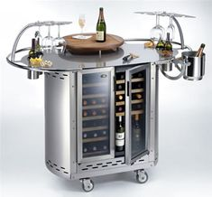Bongos mobile outdoor wine cellar and cocktail bar from Alpina Wine Station, Station 1, Wine Furniture, Kitchen Furniture, Outdoor Furniture, Wine Cart, Unique Sofas, Wine Decor, Wine Design