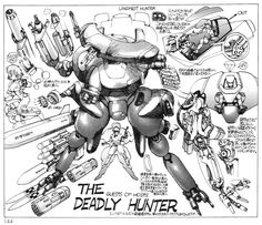 Robots and stuff - Masamune Shirow
