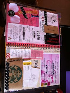 smash book-- Rachel. I love the Starbucks sleeve as a pocket idea!