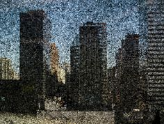 Tent-Camera Image On Ground:  Rooftop View of Midtown  Manhattan Looking East, 2010