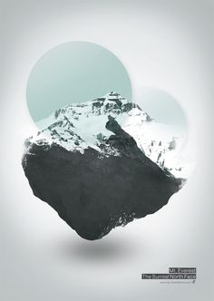 Mt. Everest - The Surreal North Face  Graphic Art Print by  Dirk Petzold Illustrations    shop.dp-illustrations.com