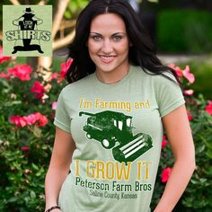farming and I grow it, shirt, tee shirt, funny t shirts, funny shirts, peterson farm bros, sexy and I know it parody!! Yay they have a t shirt line ! Haha these guys are hilarious !