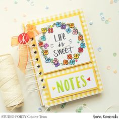 Life is sweet - notes with studioforty.pl stamps