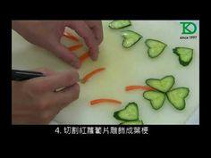 04-05小黃瓜心形幸運草切雕 - YouTube Fruit Decorations, Food Decoration, Food Sculpture, Creative Food Art, Food Garnishes, Mango, Origami Art, Fruit Art, Food Crafts