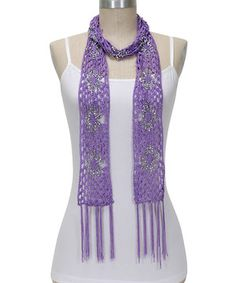 Look at this #zulilyfind! Lilac & Silver Sunburst Scarf by Passion for Fashion #zulilyfinds