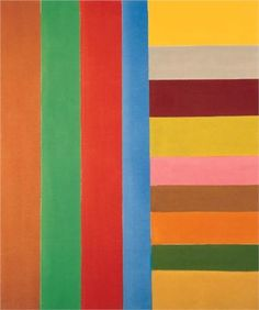 Down and Across -Jack Bush was a Canadian abstract painter. His paintings are associated with the Color Field movement and Post-painterly Abstraction