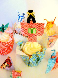 Make Origami Paper Cupcake Liner crafts