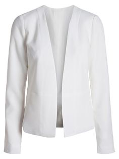 KLASSISK BLAZER, White, large Pierre Balmain, Patrizia Pepe, Blazer Jacket, Beige, My Style, Polyvore, Sweaters, Outerwear Jackets, Blazers