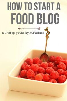 tutorials start food blog