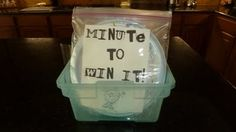 Minute to Win it Ideas!