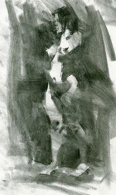 Laura by Jennifer McChristian Charcoal ~ 12 x 7