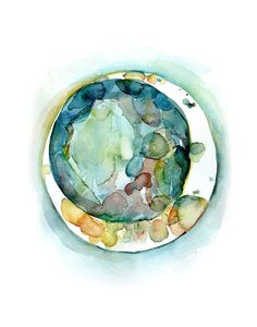 doctor office This is a print of an original watercolor that I made. (For the original please visit ). It is a painting of a Jewel-tone Embryo. NAME: Jewel-tone Embryo PAPER & INK: The p Abstract Watercolor Art, Watercolor And Ink, Watercolor Paintings, Watercolours, Small Paintings, Karten Diy, Anatomy Art, Office Art, Jewel Tones