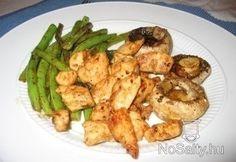 Mézes-mustáros csirke sült zöldségekkel