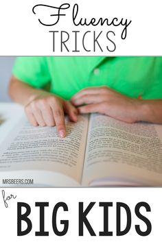 5 Fluency Tricks to enhance fluency with BIG KIDS