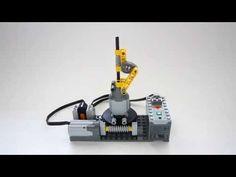 Lego Technic Worm Drive and Linkage Mechanism - YouTube