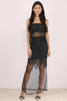 Fantasy Lace Sheer Maxi Skirt at Tobi.com | New Arrivals | April 16'