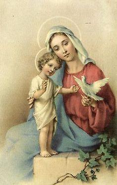 The Blessed Virgin Mary and the Child Christ. Catholic Prayers, Catholic Art, Catholic Saints, Catholic Pictures, Jesus Pictures, Blessed Mother Mary, Blessed Virgin Mary, Religious Images, Religious Art