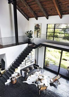 Open plan living in Malibu. Elle Decoration - Living room
