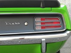 Lime Green 'Cuda = Just Plain Sick!