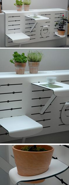 Multi-Piece Balcony Wall - This design is highly adjustable to allow you the placement of what you want and where -