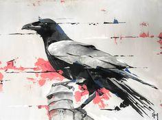 Raven 13. 30x40 #painting  #abstractart #acrylics  #ravenart #contemporaryart #niceland #inspiredbyiceland #crow #raven #realism #instaart #instamood #instabird #instagood #instalike #instadaily #art #artwork #abstract #acrylics #abstractart #painting #birdsofinstagram #birds #bird #painting #artstarsmagcm. Acryl on canvas. Sold.