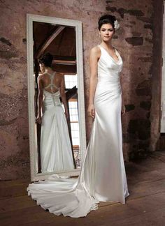 Satin Sheath Wedding Dress