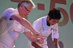 Top Chef Kristen Kish. #TopChefAtSea #CelebrityCruises Celebrity Cruise Line, Celebrity Cruises, Kristen Kish, Challenges, Fat, Celebrities, Mens Tops, Celebs, Foreign Celebrities