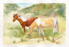 """""""Assateague Horses"""" This one is sold!"""