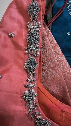 Hand Work Blouse Design, Simple Blouse Designs, Stylish Blouse Design, Saree Blouse Neck Designs, Bridal Blouse Designs, Traditional Blouse Designs, Saree Embroidery Design, Lehenga Saree Design, Maggam Work Designs