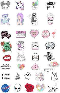 Darmowy plany lekcji   37 naklejek do pobrania! - Przypadkowe rzeczy Preppy Stickers, Cool Stickers, Printable Stickers, Planner Stickers, Vsco, Snapchat Stickers, Tumblr Stickers, Aesthetic Stickers, Scrapbook Stickers