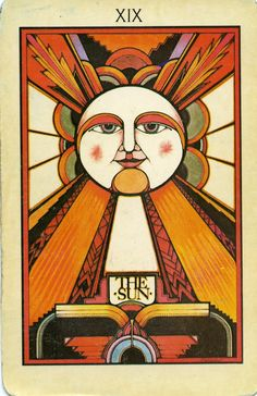 The Sun XIX tarot cards set by David Palladini
