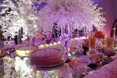 Fairy Tale white wedding with special lighting. By TEAMBRIDE Wedding Planner Judy Amado #judytheweddingplanner #teambrideJA at Sheraton Hotel Panama city Panama. Decor and flowers by Cuchi & Cris