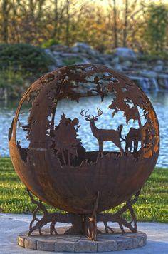 The Fire Pit Store - The Fire Pit Gallery Custom Fire Pit: Fireball Moose Deer Duck - 7010011-37D, $1,524.11 (http://www.thefirepitstore.com/the-fire-pit-gallery-custom-fire-pit-fireball-moose-deer-duck-7010011-37d/)