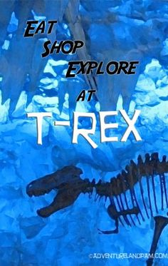 Eat, shop and explore at T-Rex cafe at www.adventurelandpam.com