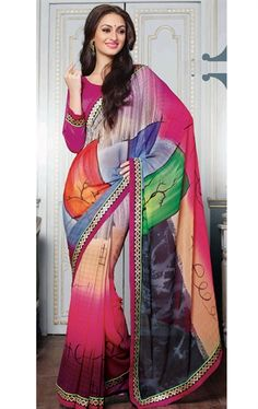 Picture of Melody Multi Color Georgette Saree