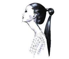 Fashion illustration Black and white by RongrongIllustration