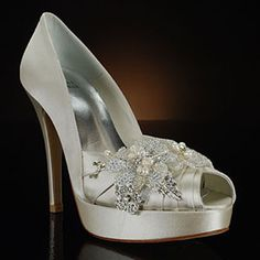 95eb9a31cc53a A day of shopping for bridal accessories is always fun and we are  absolutely in love with this Stuart Weitzman wedding shoe! Don t ask the  price ladies