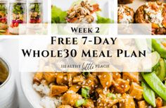Free Meal Plan and Workout Guide-Week 2 - Healthy Little Peach Whole 30 Meal Plan, Whole 30 Diet, Tone It Up, Healthy Comfort Food, Healthy Eating, Clean Eating, Quick Meals, No Cook Meals, Beef Lettuce Wraps
