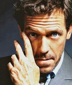 Hugh Laurie. Yet another British man who is at least twice my age who makes my fangirl go a flutter.