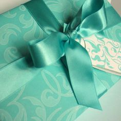 Wrap the gift in a single tone of paper and ribbon for an ultra luxe look #giftwrap