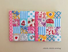 Patchwork needlebooks made for my crafty friends ♥ 手作りニードルブックのプレゼント ♥