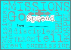 Missions awareness booklet. A free, downloadable activity booklet about missions and missionaries.