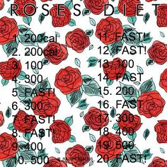 ana, anorexia, beautiful, diet, ed, fast, fat, fat ass, inspiration, motivate, roses, sad, skinny, thinspo, weight loss