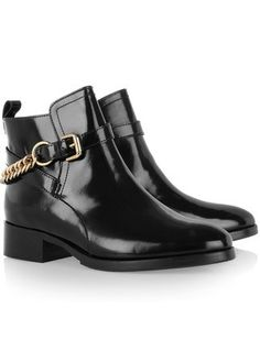 0f0e32b4f39c9 Paddock chain-detailed patent-leather boots by McQ Alexander McQueen