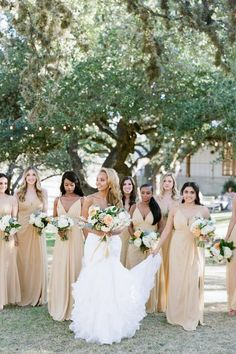 Ready to swoon over the loveliest bride and bridesmaids? Here's your moment! 🙌 @angela.lally.photo captured these sweet ladies at the most charming Texas venue there is — @theivoryoak. 💗 | Photography: @angela.lally.photo #stylemepretty #bridesmaids #bridalparty Bridesmaid Dress Styles, Brides And Bridesmaids, Bridal Dresses, Wedding Attire, Wedding Gowns, Bride Portrait, Sweet Lady, Warm Weather, Wedding Photos