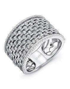 Uneek Fine Jewelry The Point D'Esprit Diamond Band /LVBW324W Wedding Ring - The Knot