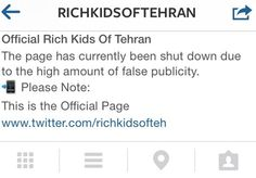 Iran Block Youth Elite #Instagram.The country has block access to an Instagram page that was revealing the lifestyle of young elite living in Tehran, which stirred indignation and spawned a rival #website on how the majority live.
