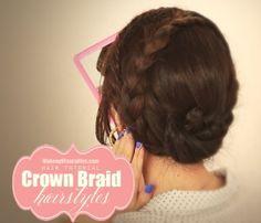 Everyday braided updo hairstyles hair tutorial for school work prom wedding